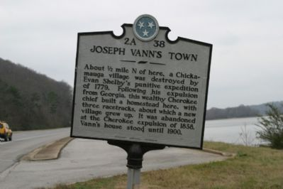 Joseph Vann's Town Marker Photo, Click for full size