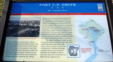 Fort C.F. Smith Civil War Trails Marker image. Click for full size.