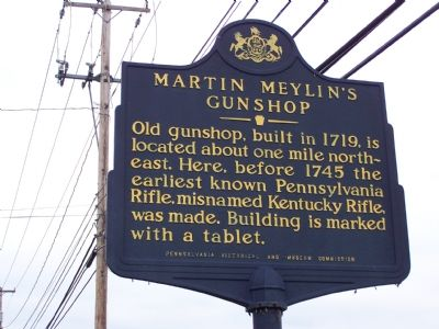 Martin Meylin's Gunshop Marker Photo, Click for full size