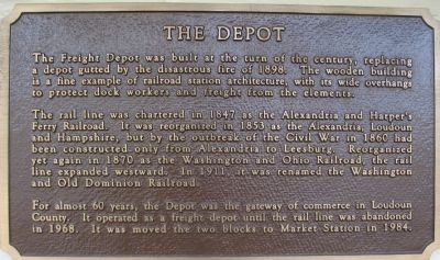 The Depot Marker Photo, Click for full size