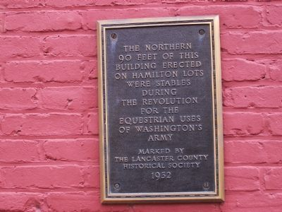 Historic Plaque on Building image. Click for full size.