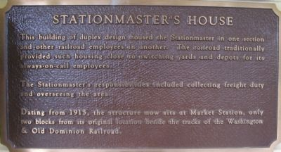 Stationmaster's House Marker Photo, Click for full size