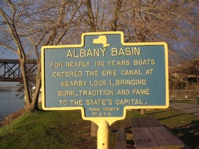 The Erie Canal / Albany Basin Marker image, Click for more information