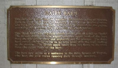 Dairy Barn Marker Photo, Click for full size