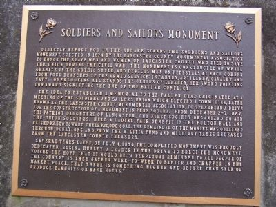 Soldiers and Sailors Monument Marker Photo, Click for full size