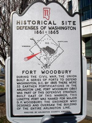Fort Woodbury Marker image. Click for full size.