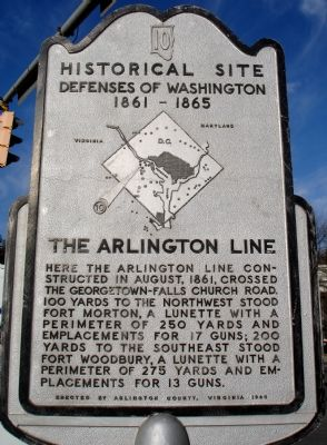 The Arlington Line Marker image. Click for full size.