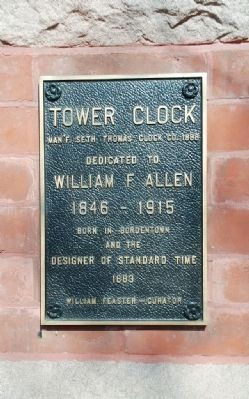 Tower Clock Marker Photo, Click for full size
