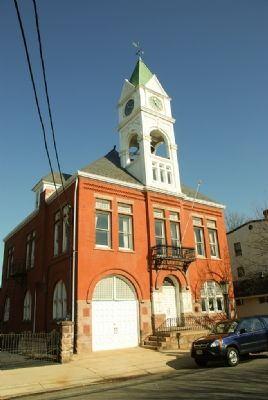 Clock Tower on Former Bordentown, NJ City Hall Photo, Click for full size