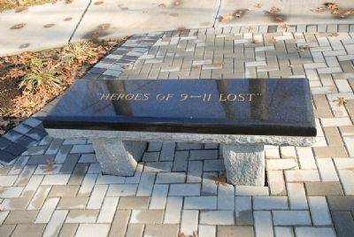 """Heroes of 9-11 Lost"" Bench image. Click for full size."