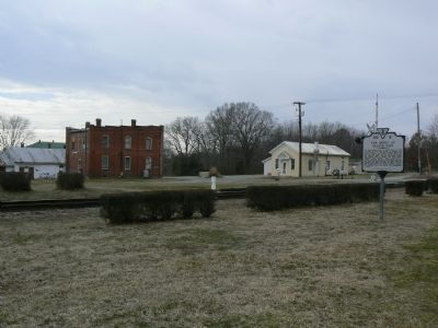 Looking southwest from in front of the depot. image. Click for full size.