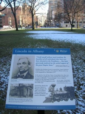 Lincoln in Albany Marker Photo, Click for full size