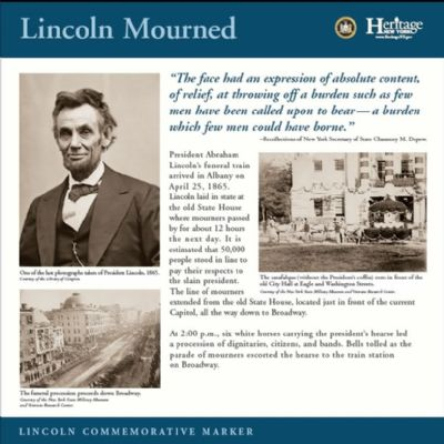 Lincoln Mourned Commemorative Marker image. Click for full size.