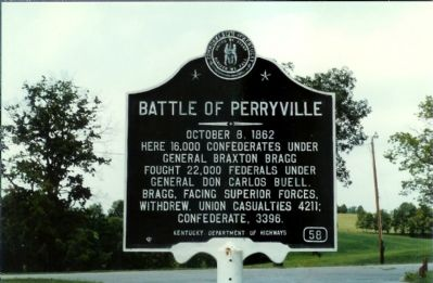 Battle of Perryville Marker Photo, Click for full size