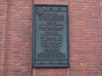 Plaque on Church Building image. Click for full size.