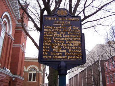 First Reformed Church Marker image. Click for full size.