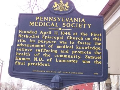 Pennsylvania Medical Society Marker image. Click for full size.