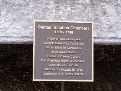 Captain Stephen Chambers Marker image. Click for full size.