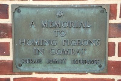 Tribute to Combat Pigeons Marker image. Click for full size.