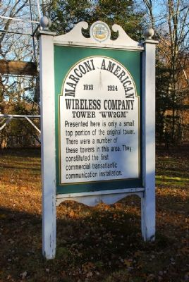 Marconi American Wireless Company Tower image. Click for full size.