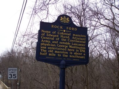 Rock Ford Marker image. Click for full size.