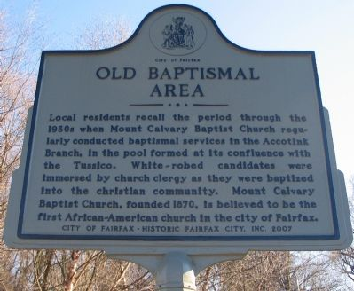 Old Baptismal Area Marker image. Click for full size.
