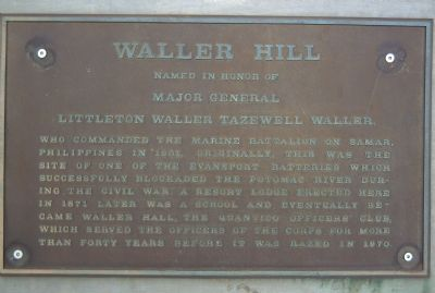 Waller Hill Marker image. Click for full size.