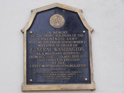 In Memory of the Brave Soldiers of the Continental Army Marker image. Click for full size.
