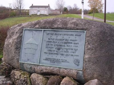 Fort Plain Plaque mounted on Boulder Photo, Click for full size