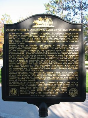 Christopher C. Andrews, Conservation Pioneer Marker image. Click for full size.
