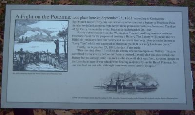 A Fight on the Potomac Marker image. Click for full size.