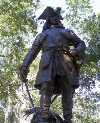 General James E. Oglrthrope Statue in Savannah image. Click for full size.