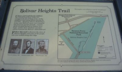 Bolivar Heights Trail Marker image. Click for full size.