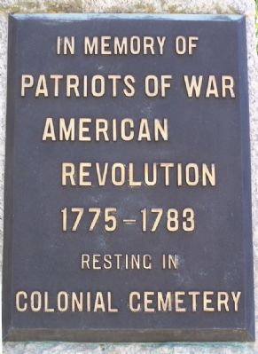 At The Main Gate to Colonial Park Cemetery image. Click for full size.