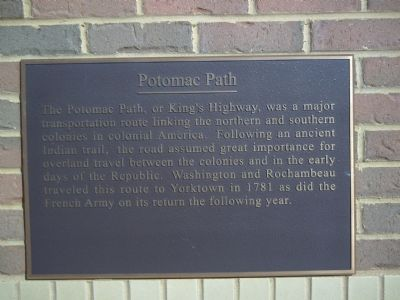 Potomac Path Marker image. Click for full size.
