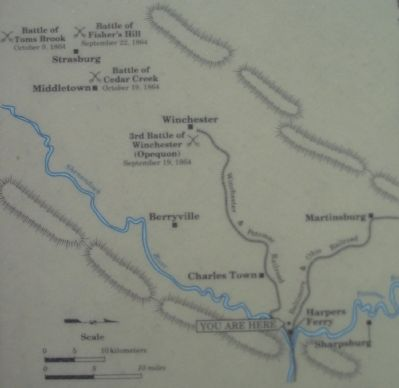 The 1864 Shenandoah Valley Campaign Map image. Click for full size.