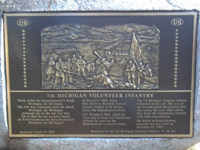 7th Michigan Volunteer Infantry Marker image. Click for full size.