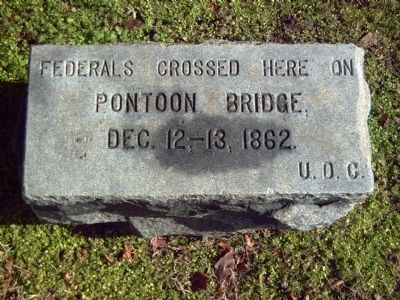 Pontoon Bridge Site Marker image. Click for full size.
