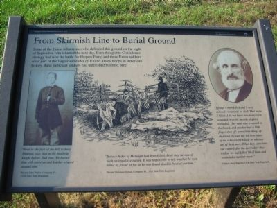 From Skirmish Line to Burial Ground Marker image. Click for full size.