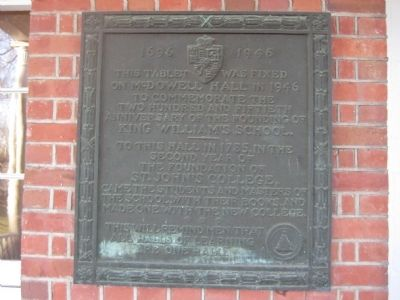 King William's School Marker Photo, Click for full size