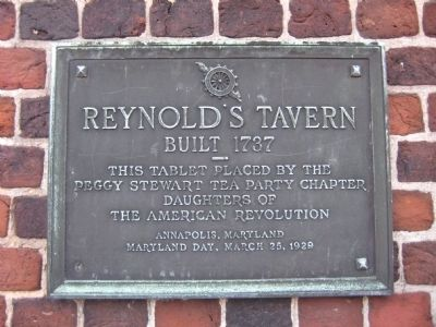 Reynold's Tavern Marker image. Click for full size.