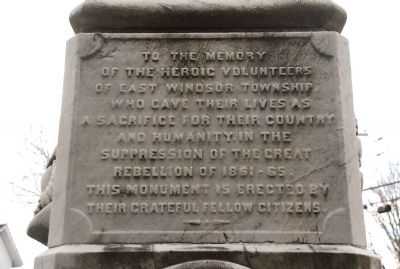 East Windsor, New Jersey, Civil War Monument Marker Photo, Click for full size
