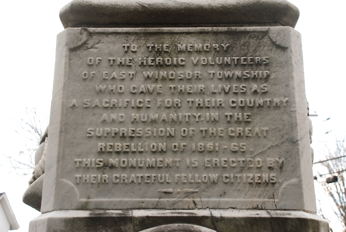 East Windsor, New Jersey, Civil War Monument Marker