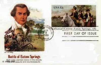 Commemorative Stamp for Gen. Green, 1981 image. Click for full size.