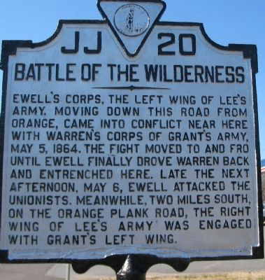Battle of the Wilderness Marker image. Click for full size.