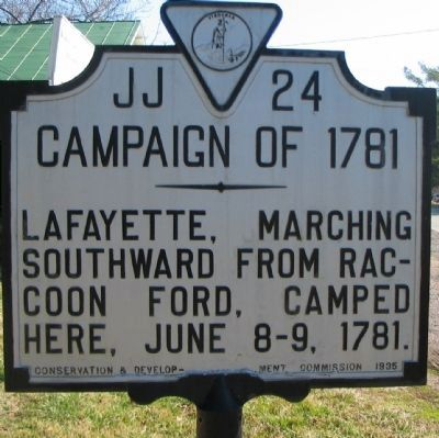 Campaign of 1781 Marker Photo, Click for full size