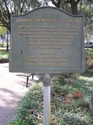 German Memorial Fountain Marker image. Click for full size.