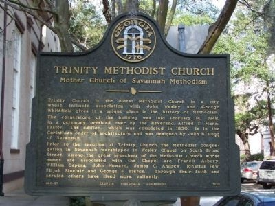 Trinity Methodist Church Marker image. Click for full size.