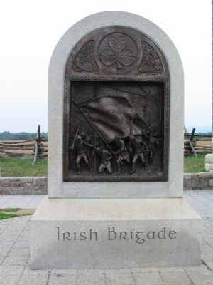 Front Side of Irish Brigade Monument image. Click for full size.