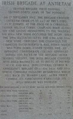 Left Side of Irish Brigade Monument image. Click for full size.